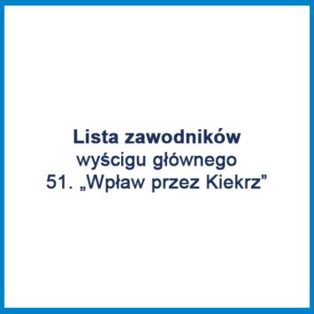 """51. """"Wpław przez Kiekrz"""" – lista zawodników"""